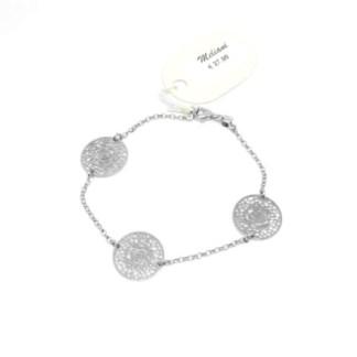 bracciale donna argento fiore