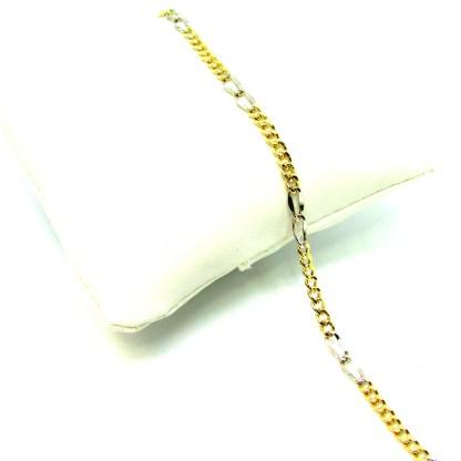 bracciale oro giallo e bianco unisex