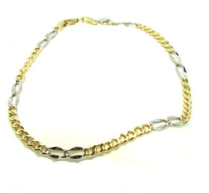 bracciale unisex oro giallo e oro bianco