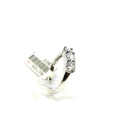 anello donna argento zirconi trilogy