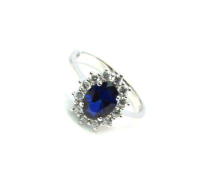 anello donn oro bianco pietre colorate zirconi