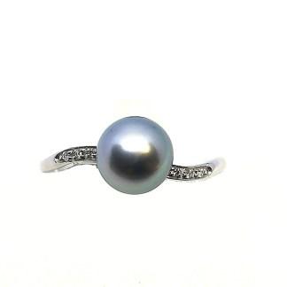 anello donna perle acqua dolce oro bianco diamanti golay