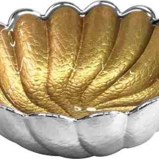 Piatto in vetro e argento Torciglione Argenesi 0.02608