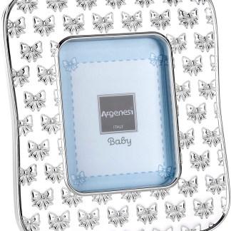 Cornice Baby Ribbon in resina e argento Argenesi 0.02746