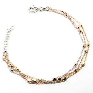 Bracciale donna in argento argento rosa e argento dorato Classic Madì Gioielli