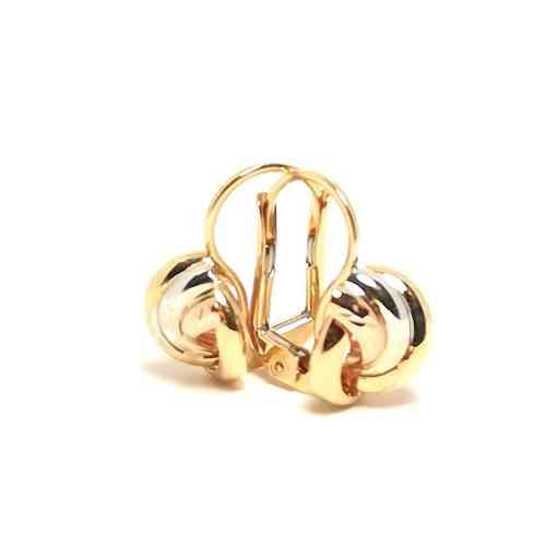 Orecchini donna oro giallo oro bianco oro rosa nodo 4147x