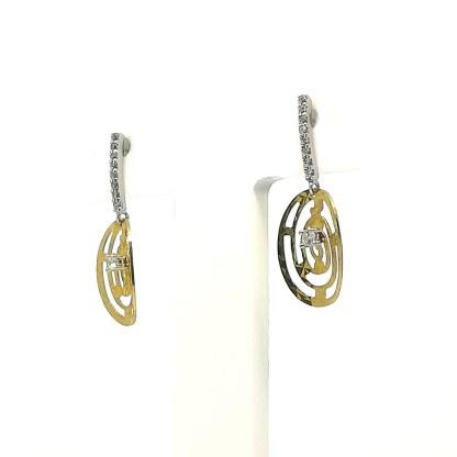Orecchini donna in Oro bianco e Oro Giallo Zirconi