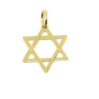 Ciondolo in Oro Giallo Stella di David
