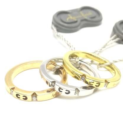 Anello Veretta in Oro bianco e Diamanti Gianni Carità