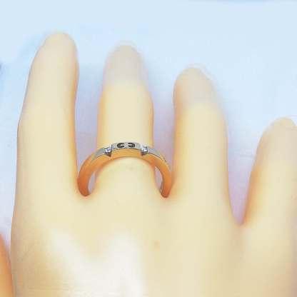 Anello Veretta in Oro rosa e Diamanti Gianni Carità