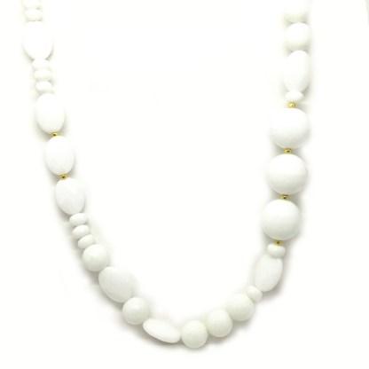 Collana donna in pietre dure e argento Agata Bianca