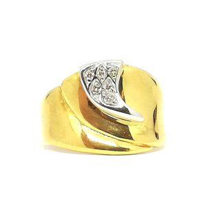 Anello donna Fascia in Oro giallo e Diamanti Salvini