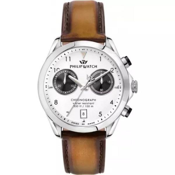 Orologio uomo acciaio pelle minerale Blaze Philip Watch R8271665008