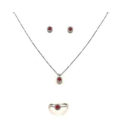 parure.rubino e diamanti