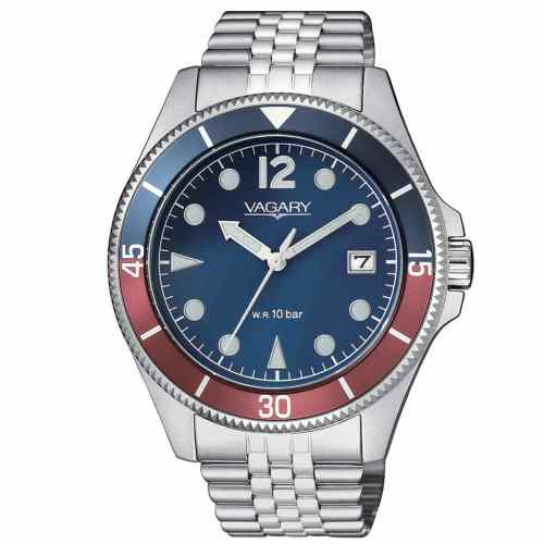 Orologio uomo Vagary Aqua 39 Acciaio VD5-015-73