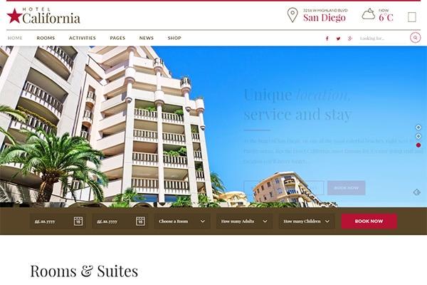 Hotel California - Hotel & Hostel Theme