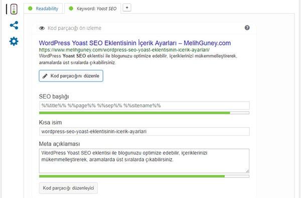Wordpress Yoast SEO Zengin Snippet Ayarları