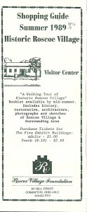 The 1989 brochure for Roscoe Village