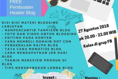 Keseruan Kelas Training Blog Advanced Bareng Mentor Kecenya Joeragan Artikel