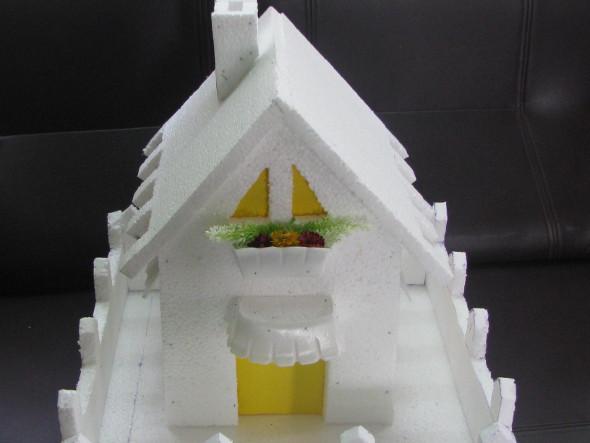 Make model house using thermocol