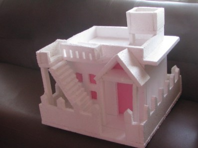 Thermocol House With Flat Roof Model 3 Melindajanice Com Craft