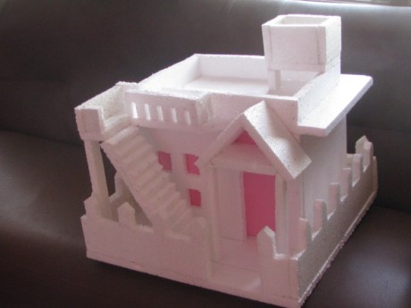 Thermocol House with Flat Roof – Model 3