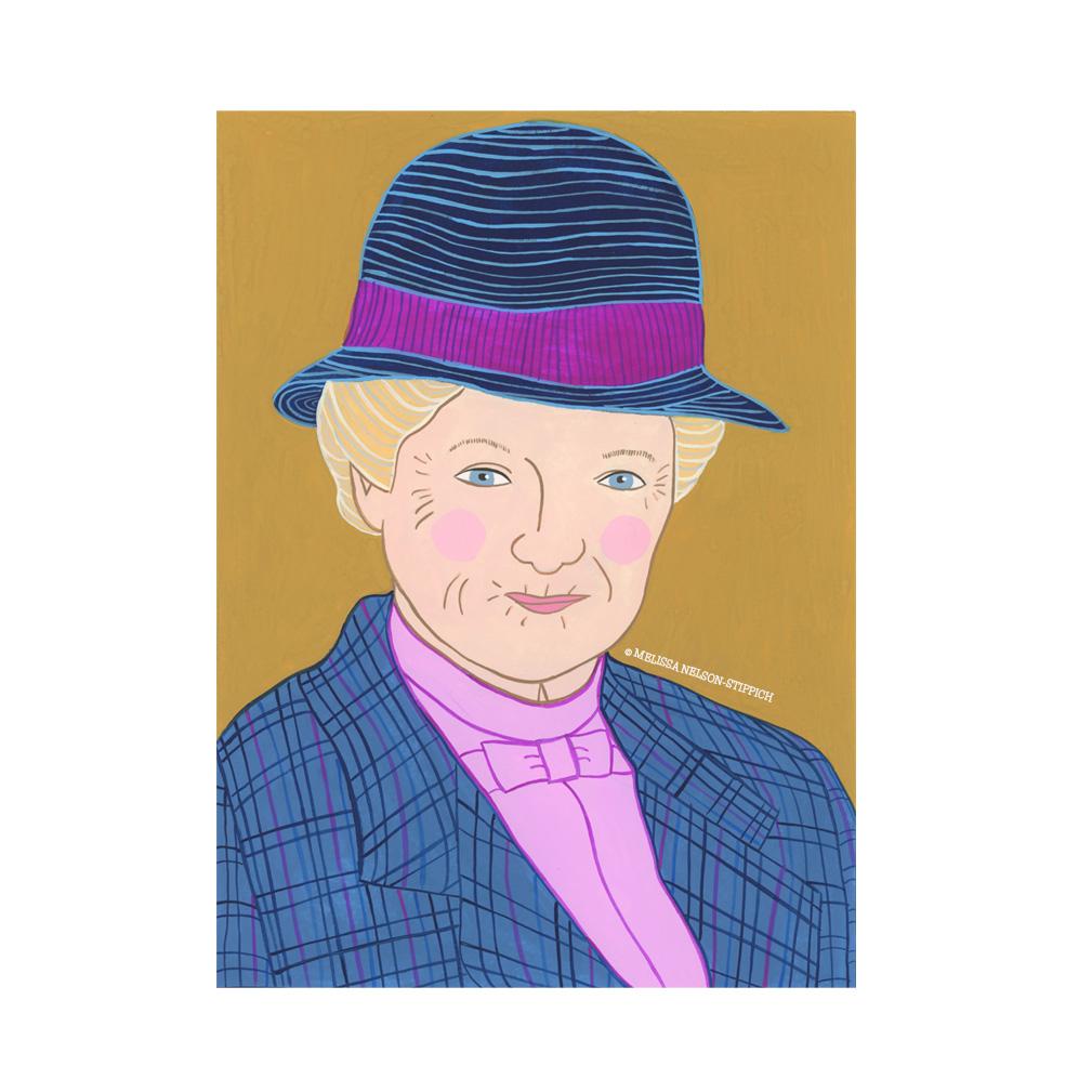Miss Marple Print