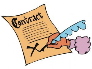 A legal contract