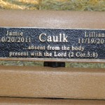 Jamie Caulk & Lillian Caulk bench