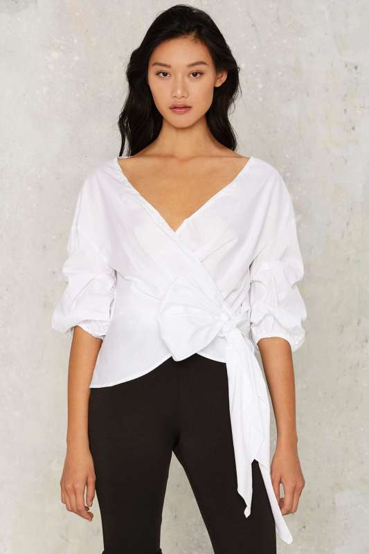 Wrap Blouse Nasty Gal