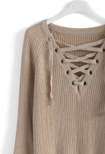 Lace-up-sweater
