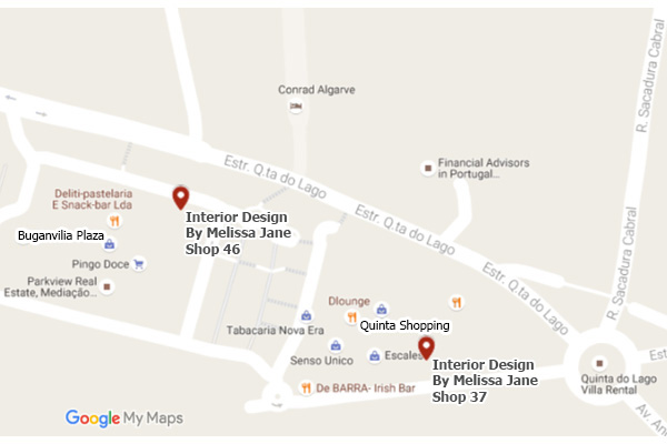 algarve show rooms map