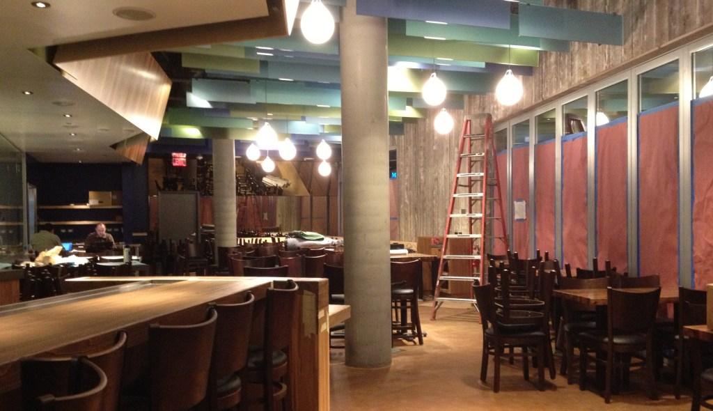 Interior of Chef Ricardo Zarate's Paiche LA Restaurant while under construction.