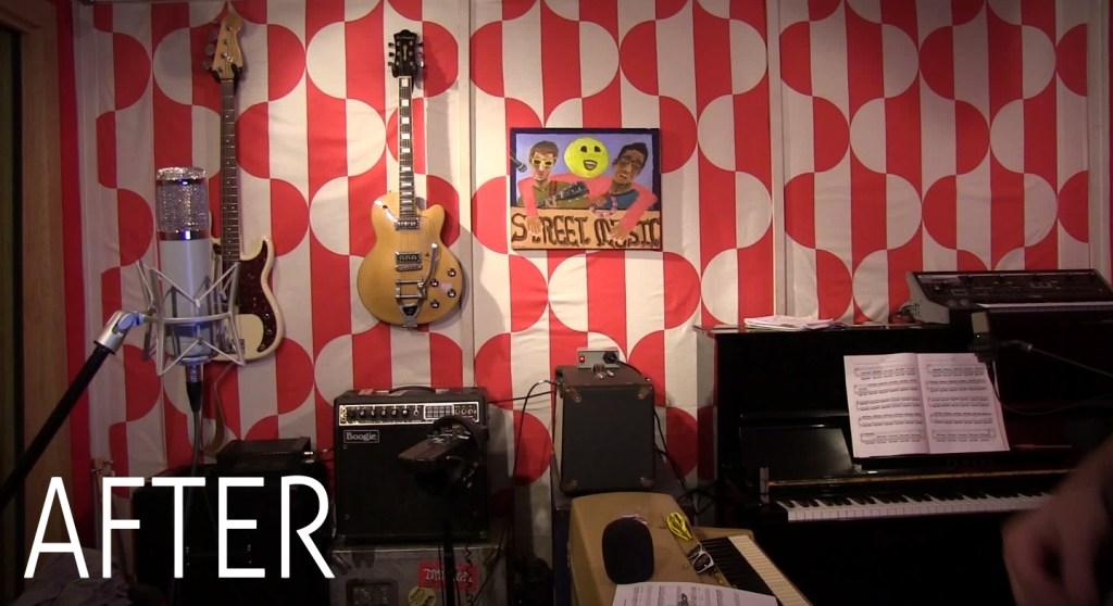 Custom Designed studio live room for Nice Peter, creator of Epic Rap Battles of History