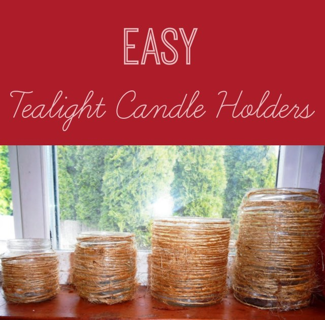 easy tealight candle holders