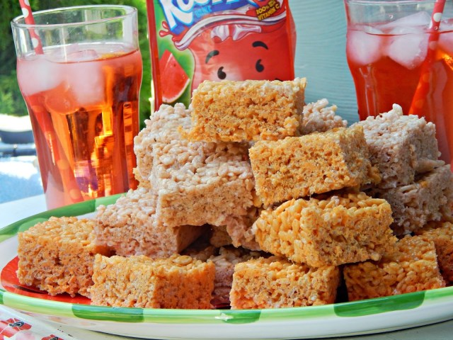 Orange Cream Rice Cereal Bar Treats #KoolOff #Cbias #shop