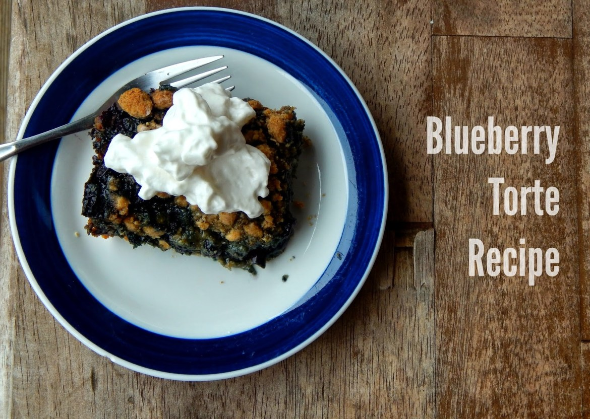 Blueberry Torte Recipe #QuakerUp #LoveMyCereal #spon #collectivebias