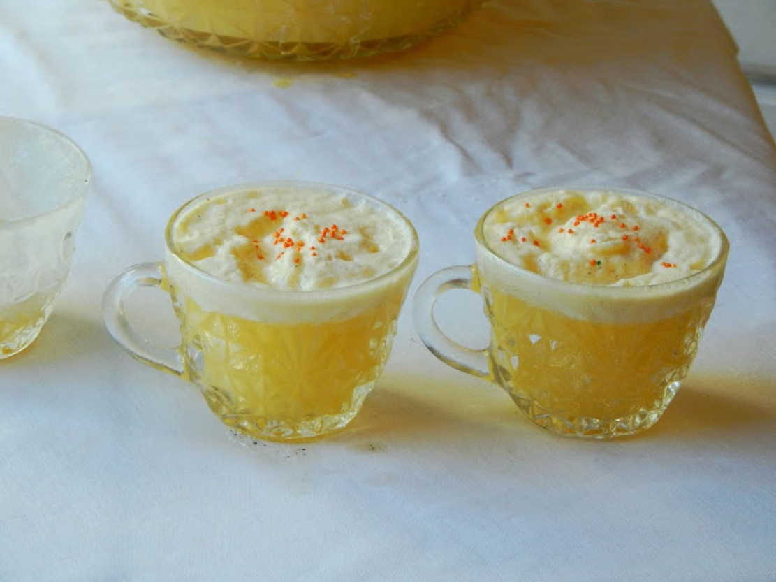 Recipe for an easy Orange Creamsicle Punch #AHugeSale #ad
