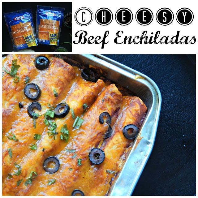 Cheesy Beef Enchilada Recipe #naturallycheesy AD