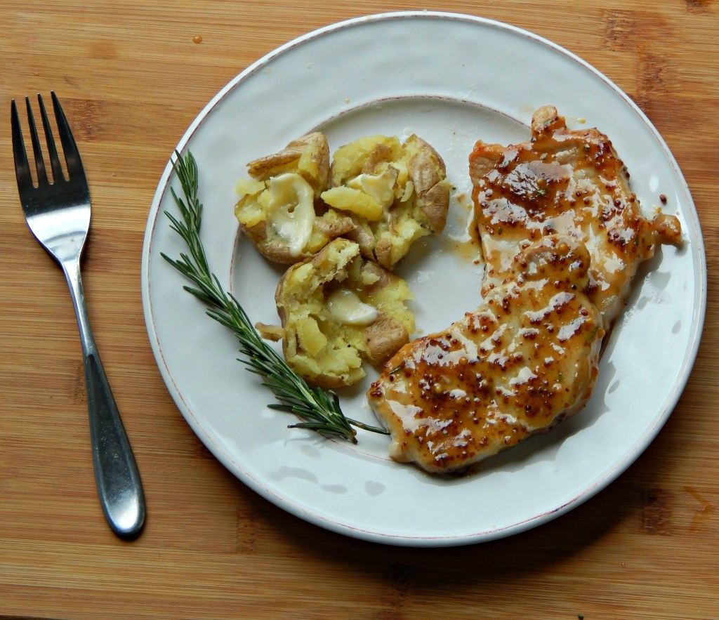 rosemary mustard pork chops