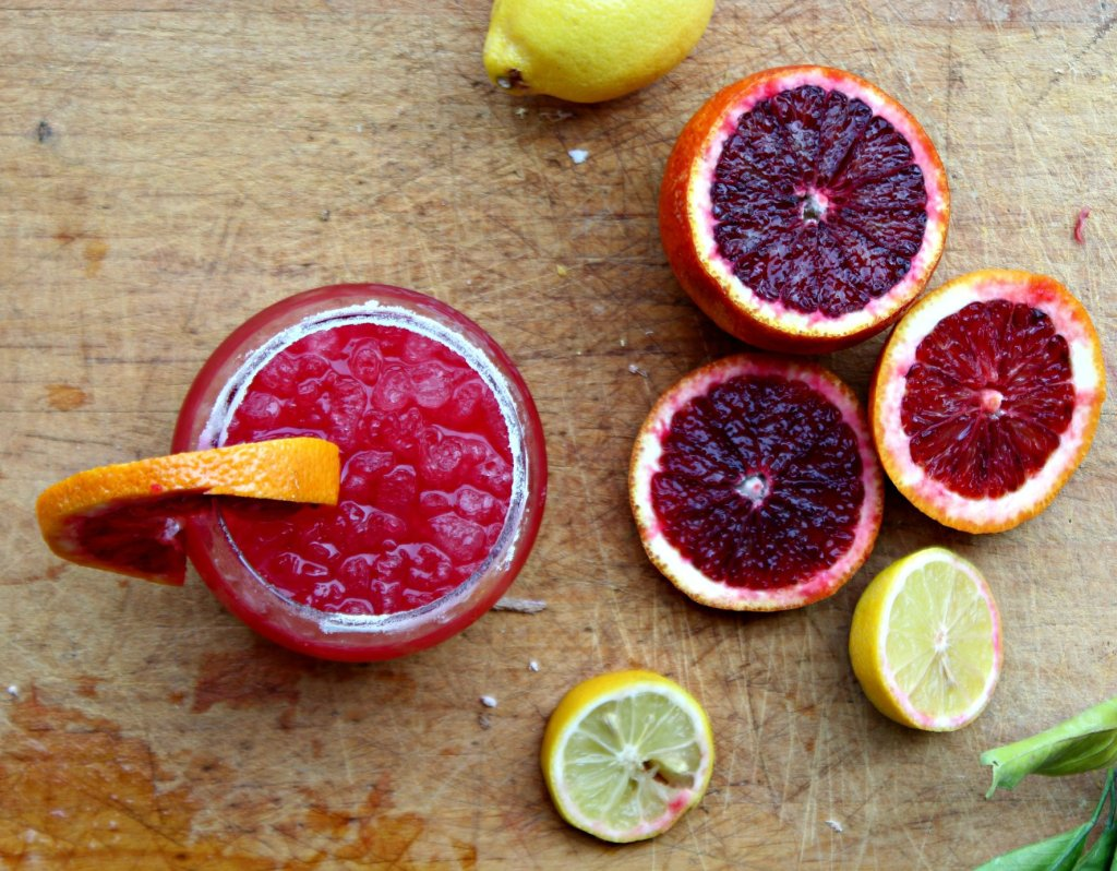 blood orange lemon drop