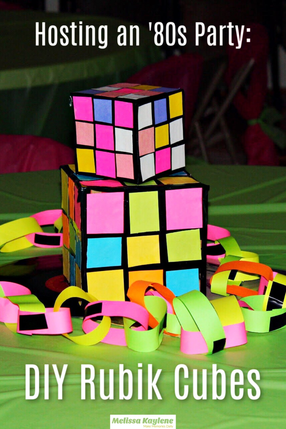 DIY Rubik Cubes 1980's Party