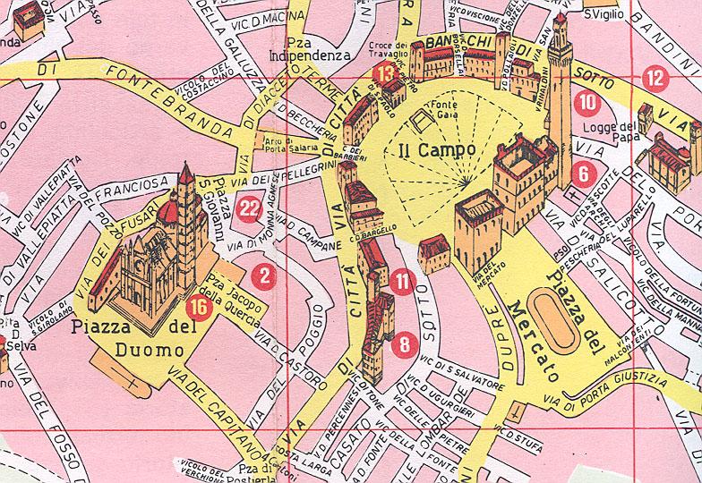 Siena Italy Map Printable