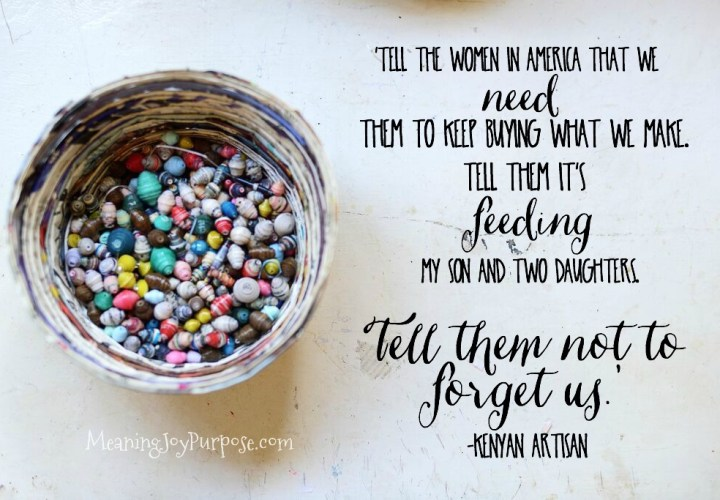 Fair Trade Friday-Tell Them Not to Forget Us
