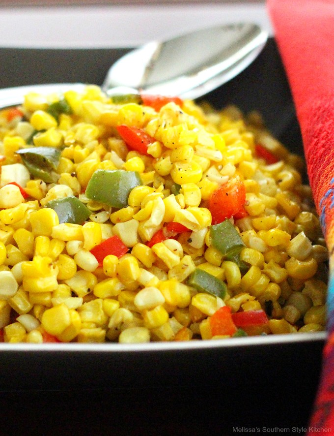 roasted corn in a bowl