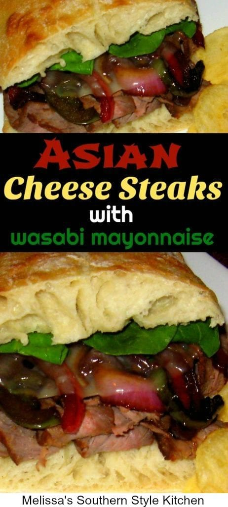 Asian Cheese Steaks with Wasabi Mayonnaise