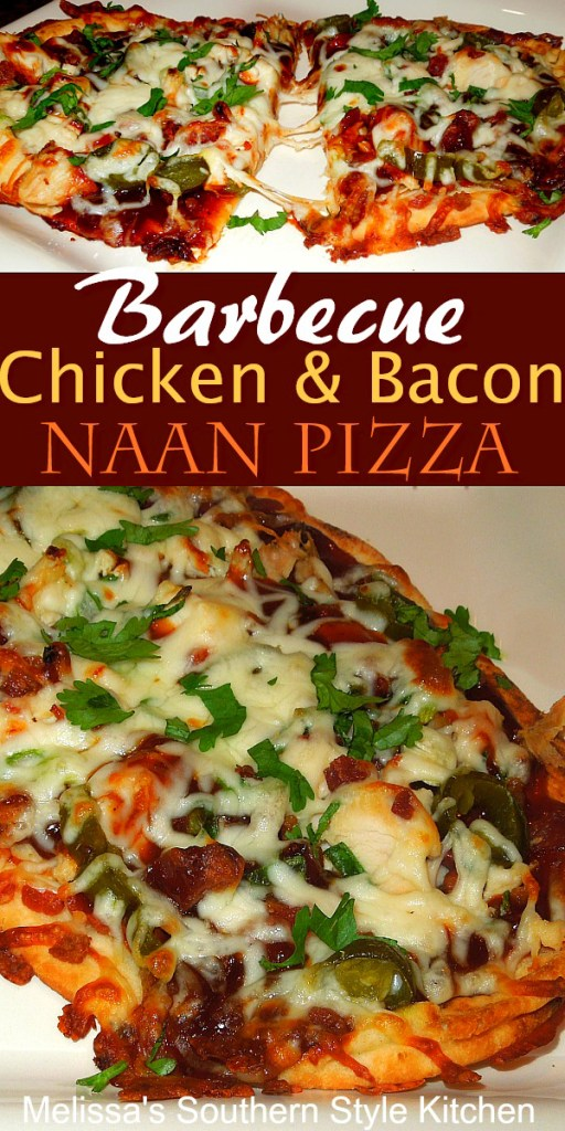 Barbecue Chicken and Bacon Naan Pizza