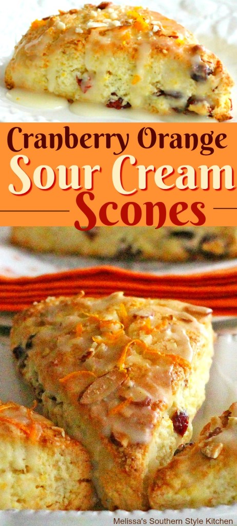 Cranberry Orange Sour Cream Scones