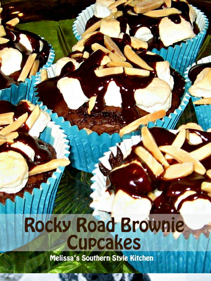 Rocky Road Brownie Cupcakes