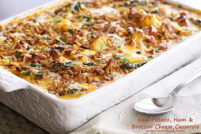 New Potato Ham And Broccoli Cheese Casserole